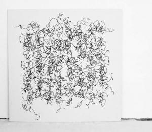 D'après section U_10, 2011 gouache fixée sur toile, 100 x 100 cm